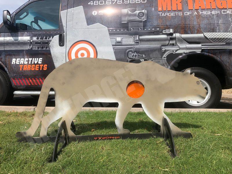 mrtarget-cougar-predator-animal-reactive-steel-shooting-hunting-target-ar500-ar550